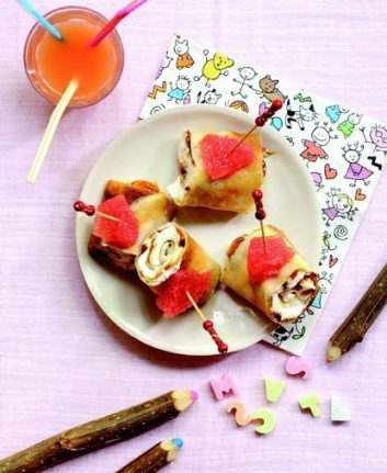 Crêpes surprise au pamplemousse et au caramel au beurre salé