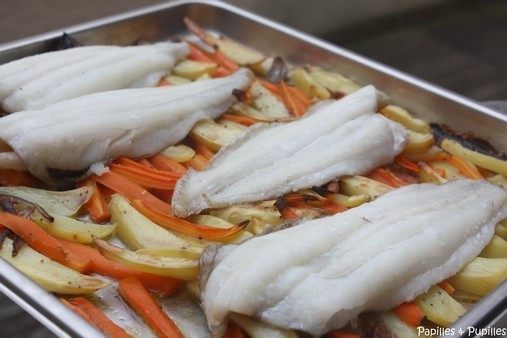 Filets de limande sole aux légumes d'hiver