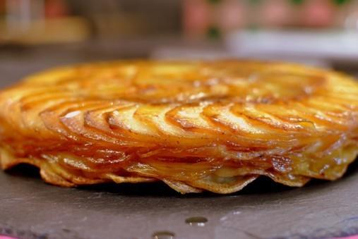 Gâteau de pommes Anna aux cèpes de David Martin