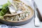 Galette de sarrasin, duxelle de champignons et émincés de poulet de Christophe Felder