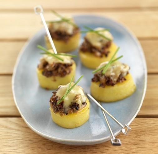Canap s de pommes de terre belle de fontenay gratin la for Canape au fromage
