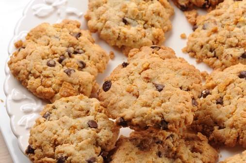 Cookies aux cornflakes et aux pépites de chocolat ©Passion céréales