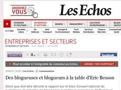 Des blogueurs et des blogueuses au Ministère de l'économie numérique