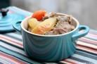 Cocotte de porc aux pommes et au cidre