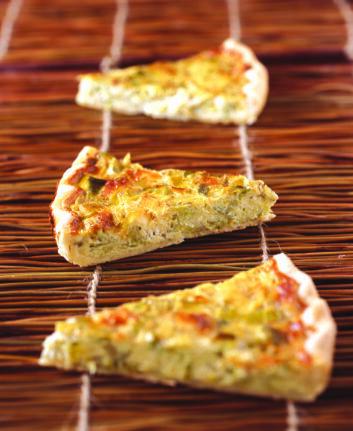 Tarte aux poireaux et fromage de chèvre ©Marie Laure Tombini