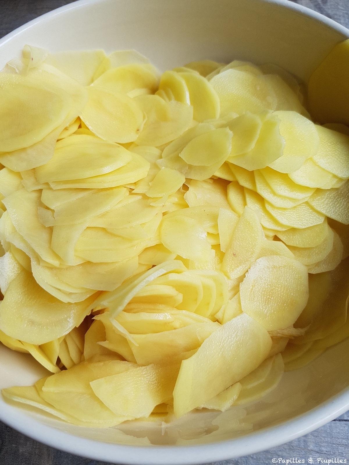 Mandolines - Lamelles de pommes de terre