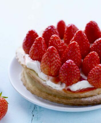 Tartelettes fines aux fraises, mascarpone à la vanille
