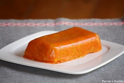 Terrine de carottes à l'orange et au cumin démoulée