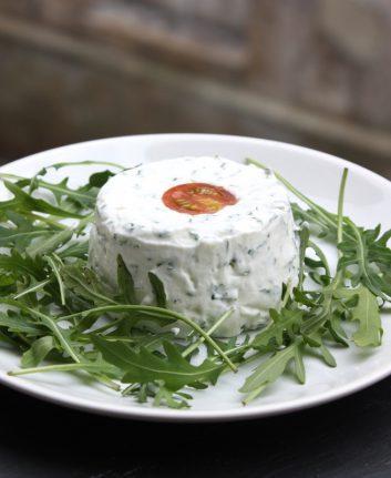 Terrine de fromage frais aux herbes de Michel Guérard