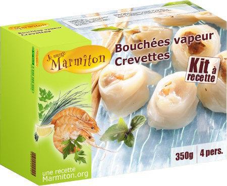 Bouchées vapeur crevettes Marmiton