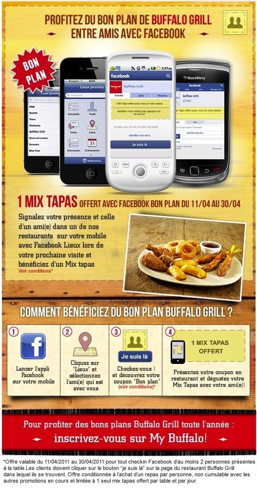 Bufallo Grill Facebook Bon Plan