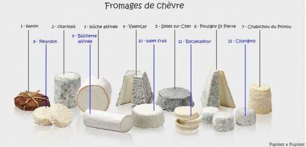12 fromages de chèvre