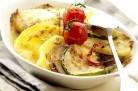 Gratin végétarien aux pommes de terre, aubergine, et courgette