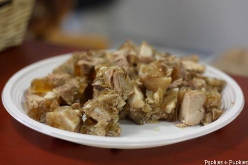 Jambon de Tonneins découpé en cubes