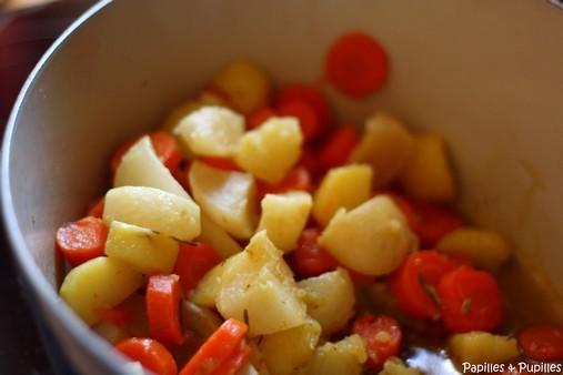 Légumes après cuisson