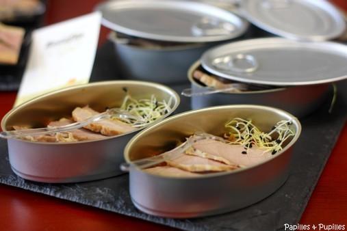 Mignon de porc à la moutarde, mini ratatouille et graines germées