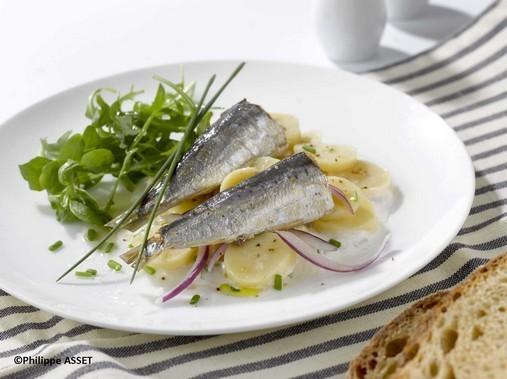 Salade de pommes de terre et sardines à l'huile d'olive - Photo Recette - BISTROT DU PORT BENODET_copyright
