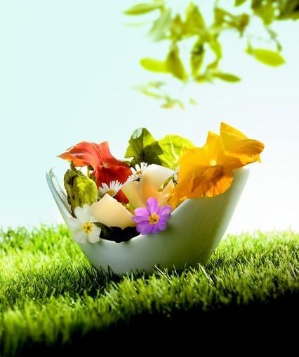 Salade des Alpages au Beaufort et aux fleurs d'été