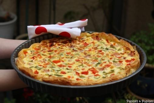 Recette de tarte aux poivrons - Cuisiner le poivron vert ...