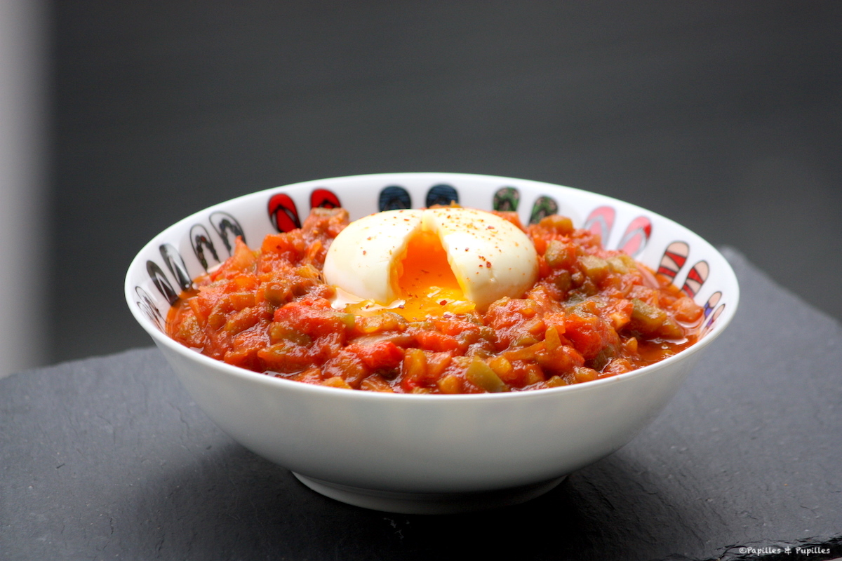 Oeufs mollets en nid de Tchoutchouka [chakchouka]
