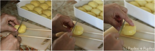 Pommes de terre rôties à la suédoise - Comment couper