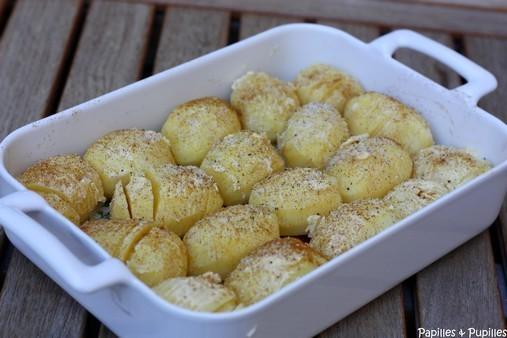 Pommes de terre rôties à la suédoise - Hasselback potatoes