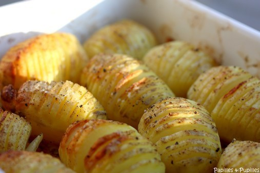 pommes de terre r ties la su doise hasselback potatoes. Black Bedroom Furniture Sets. Home Design Ideas