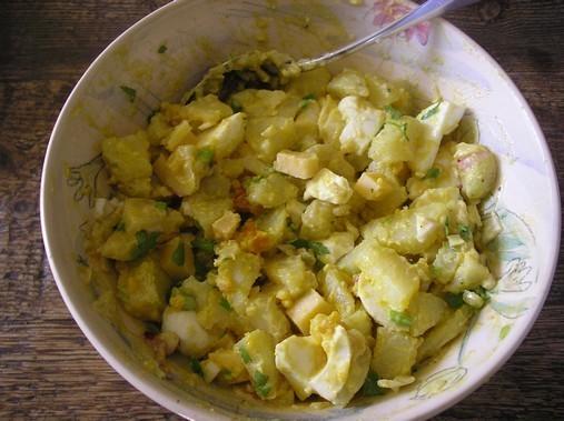 Salade de pomme de terre, comté et oeufs durs - Erie
