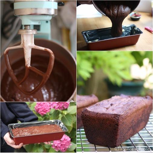 Cake aux deux chocolat