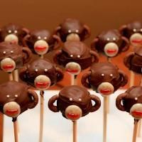 Cake pops Monkey
