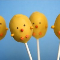 Cake pops poussin