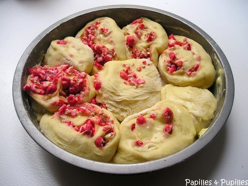 Chinois aux pralines roses avant cuisson
