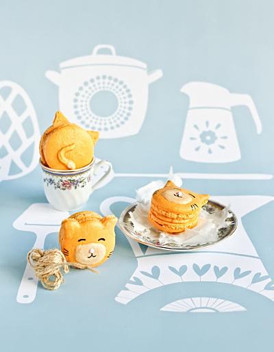 Macarons en forme de chats