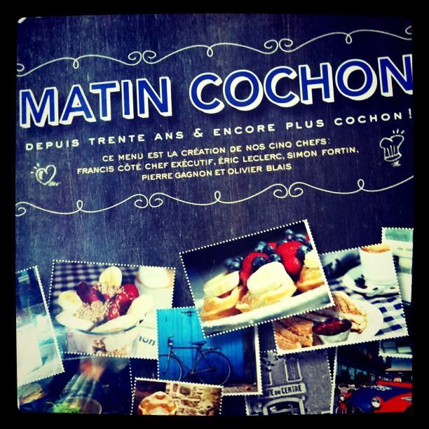 Matin cochon - quartier Champlain, Québec (les meilleures côtes levées de my Life )