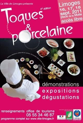 Affiche toques et porcelaine 2011