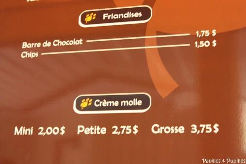 une glace à l'Italienne mais une crème molle