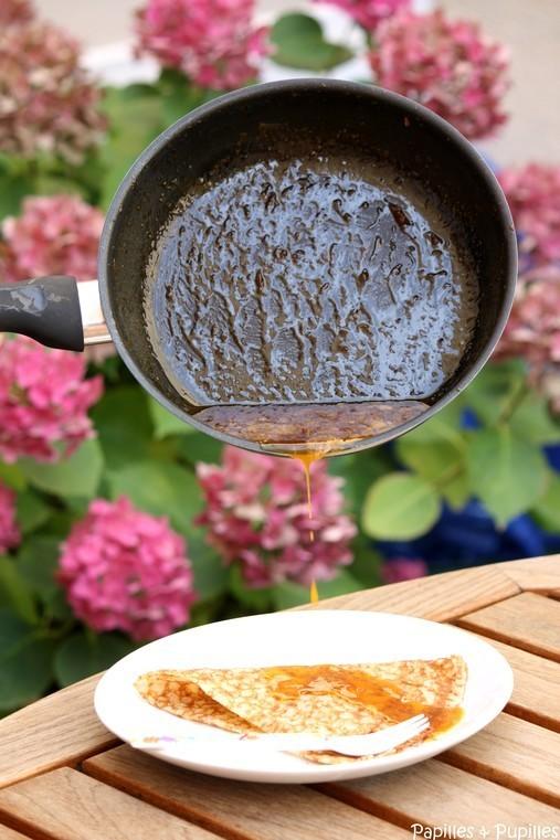 Crêpes Suzette - caramel à l'orange et au grand marnier