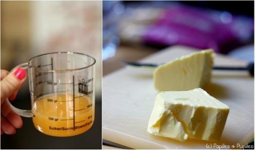Jus d'orange + citron - Beurre