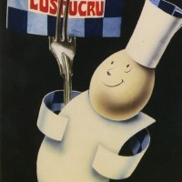 Père Lustucru avec fourchette