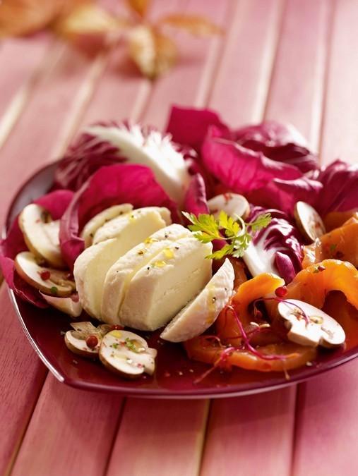 Salade de Crottin de Chèvre au saumon