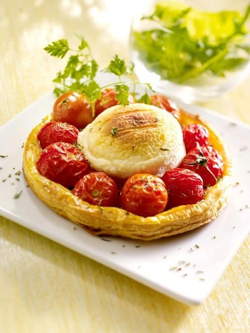 Tartelette au Crottin de Chèvre et tomates cerises