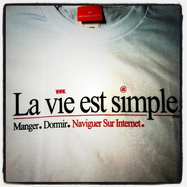 Aujourd'hui j'ai mis mon super Tshirt #VisMaVie #geek