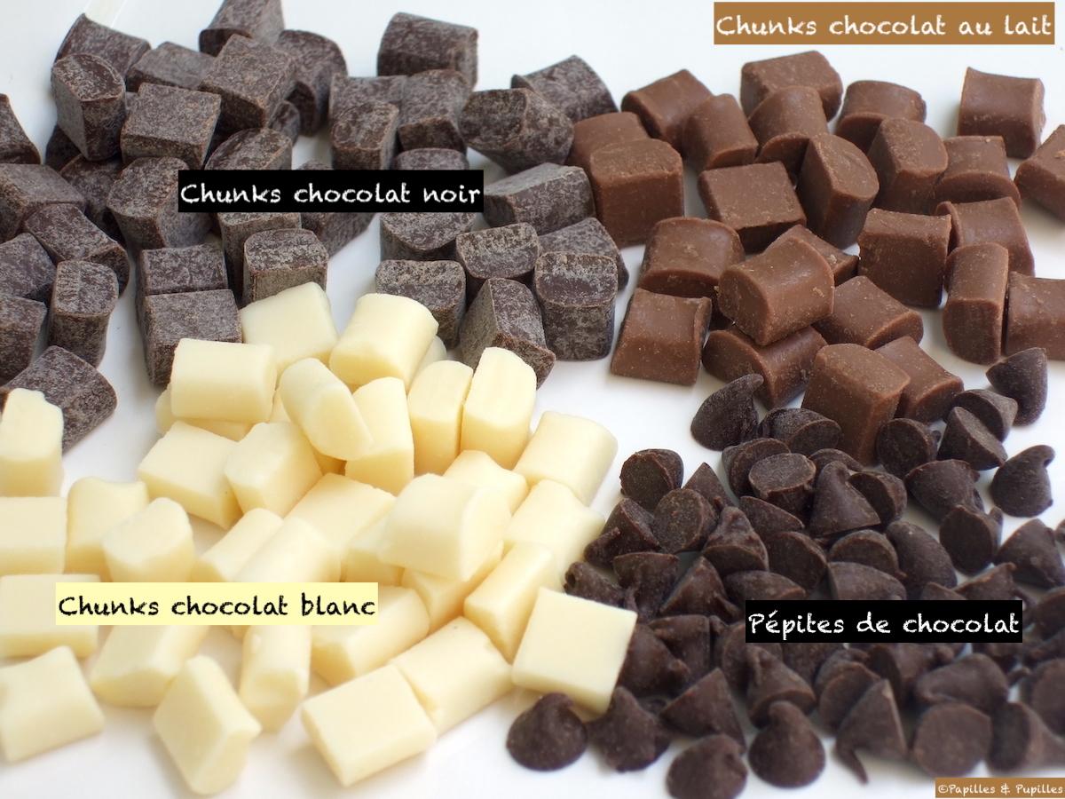 Chunks noir, lait, blanc et pépites