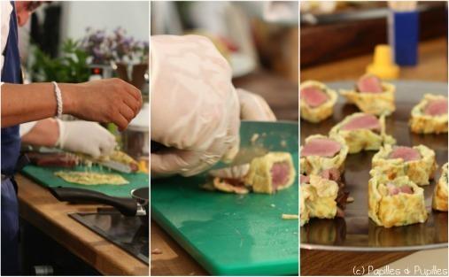 Filet de bœuf façon sushi - Maurice Alexis