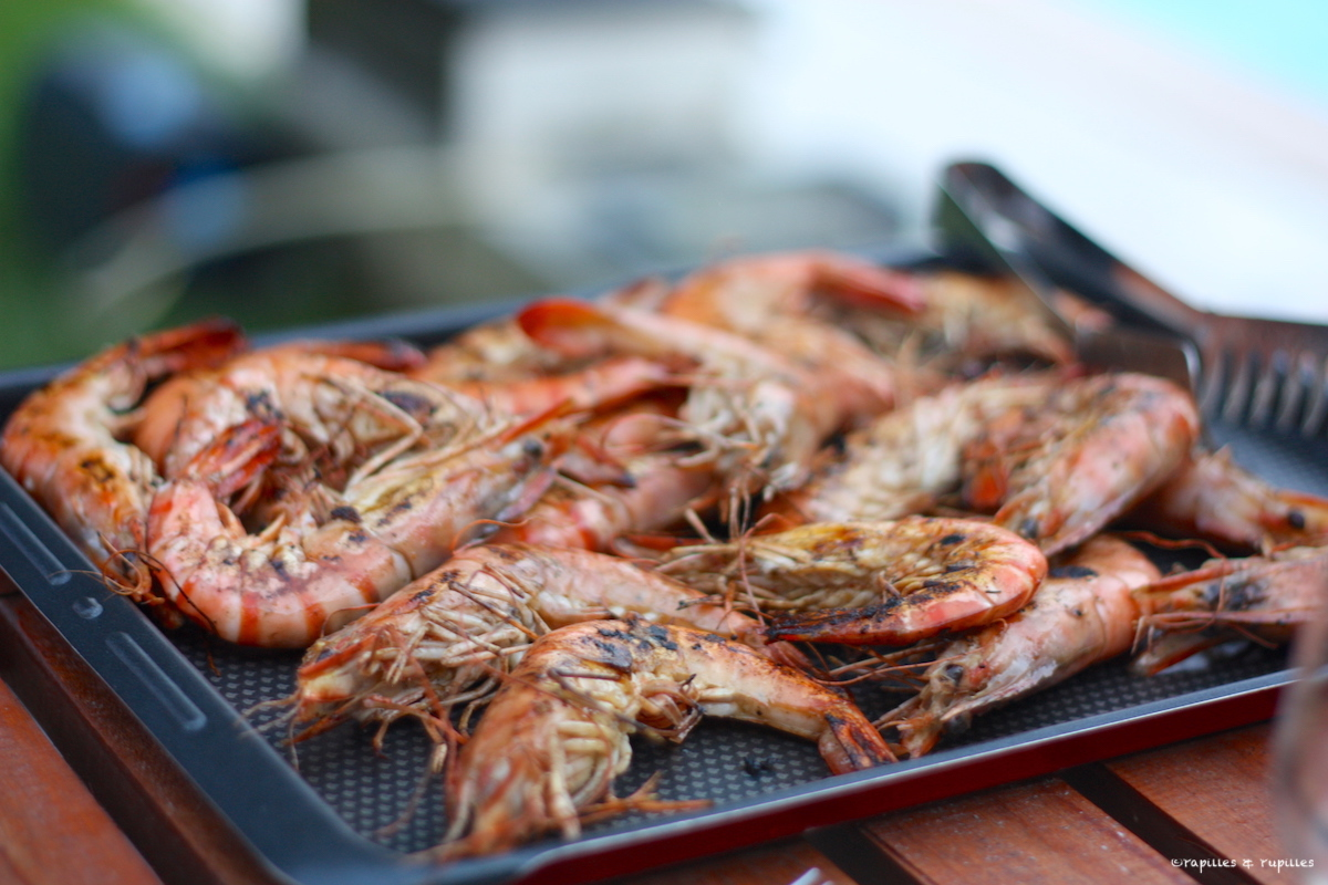Gambas marinées cuites