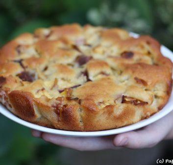 Gâteau à la Ricotta et aux nectarines