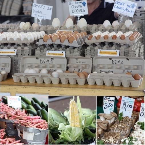 Oeufs, fèves, maïs et champignons