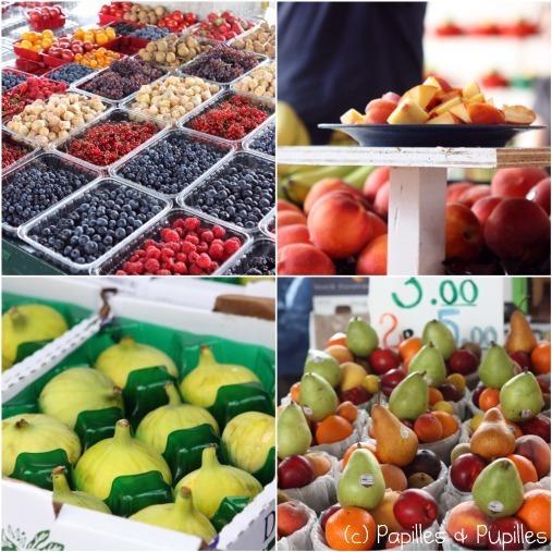 Petits fruits rouges, pêches, figues blanches, mélange de fruits