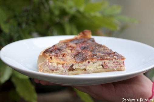Quiche Pancetta Tomate parmesan