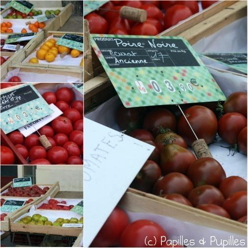 Tomates poires noires et autres variétés